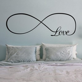 Infinity love wallsticker