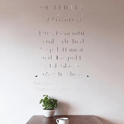 Opskrift på kærlighed wallsticker