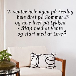 Start med at leve wallsticker