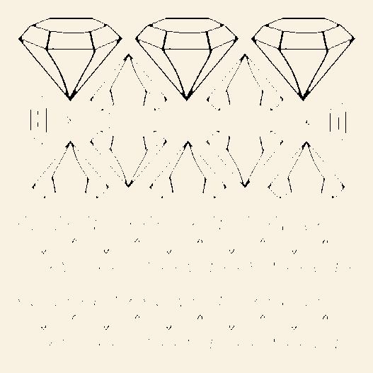 Diamanter wallsticker