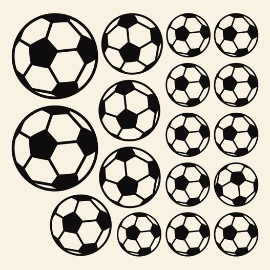 Fodbolde wallsticker