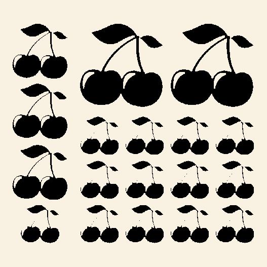Kirsebær wallsticker