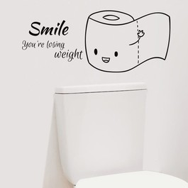 Smile you're losing weight wallsticker