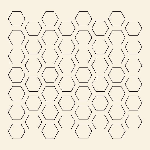 Omridsede sekskanter wallsticker