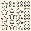 Omridsede stjerner wallsticker