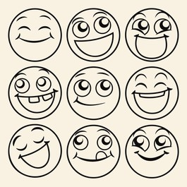 Smileys wallsticker