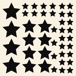 Stjerner wallsticker