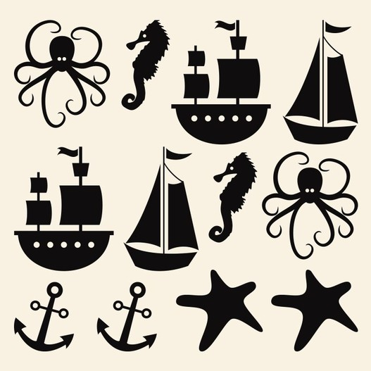 Til søs wallsticker