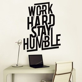 Work hard stay humble wallsticker