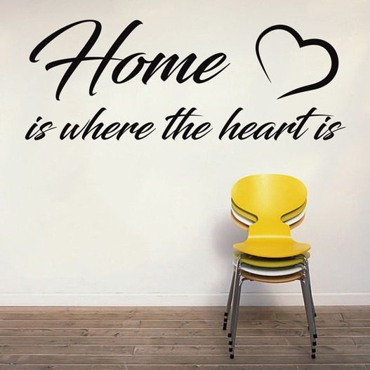 Home is where the heart is wallsticker