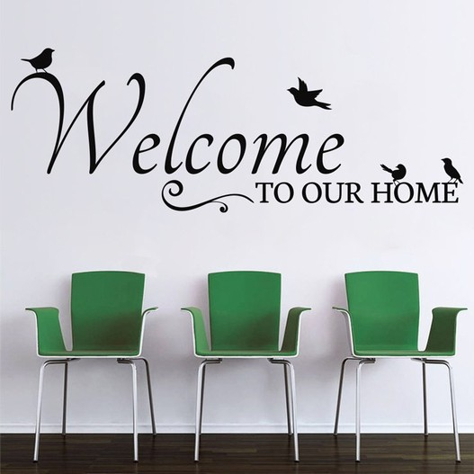 Welcome to our home wallsticker