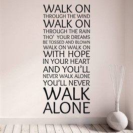 Liverpool - You'll never walk alone wallsticker