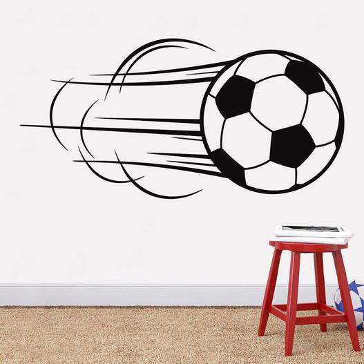 Fodbold med fart på wallsticker