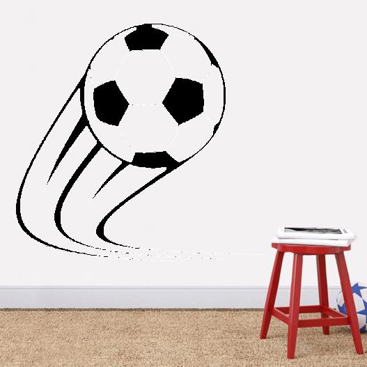 Fodbold med skru i wallsticker