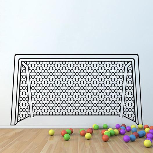 Fodboldmål 1 wallsticker
