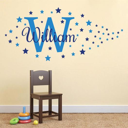 Navn med stjerner wallsticker