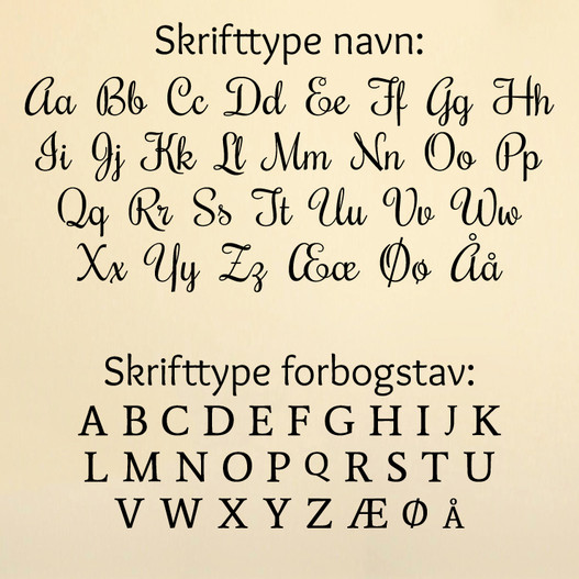 Navn med stjerner skrifttyper wallsticker