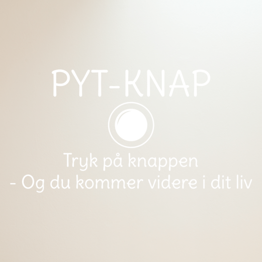 Pyt knap wallsticker