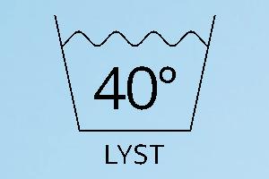 Vaskemærke 40 lyst