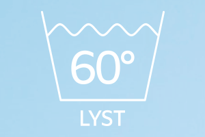 Vaskemærke 60 lyst