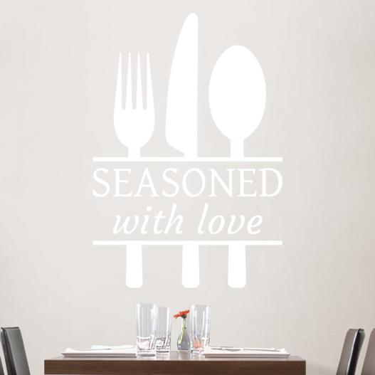 Seasoned with love wallsticker