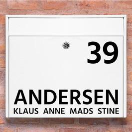#1 navn wallsticker til postkasse