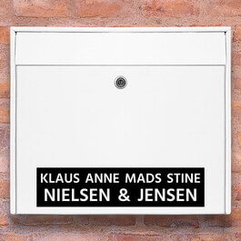 #2 navn wallsticker til postkasse