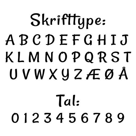 #2 navn wallsticker til postkasse skrifttype