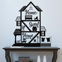 #4 Home sweet home wallsticker