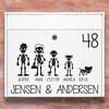 Postkasse stickers - Skelet familie wallsticker til postkasse