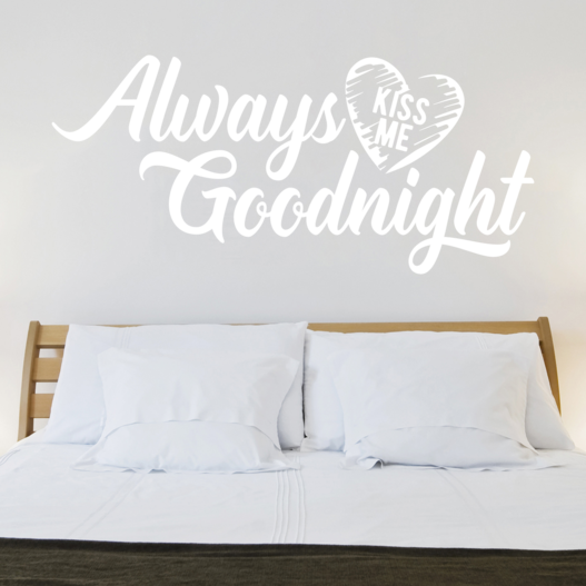#2 always kiss me goodnight wallsticker