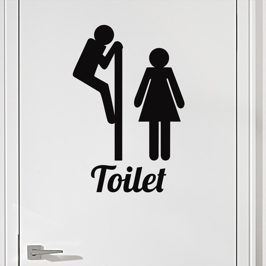 #2 Toiletskilt wallsticker