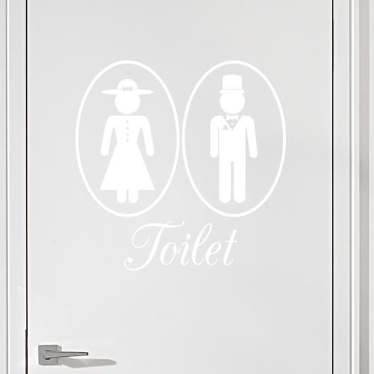 #3 Toiletskilt wallsticker