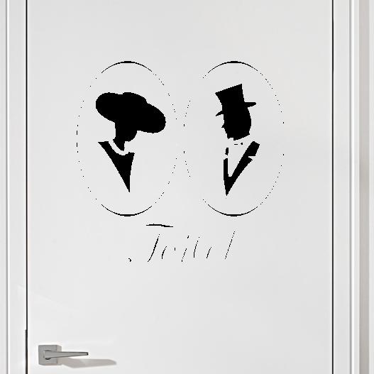 #5 Toiletskilt wallsticker