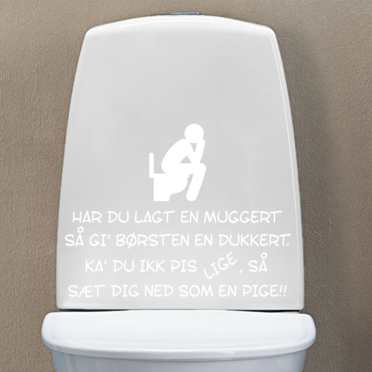 Toilet joke wallsticker