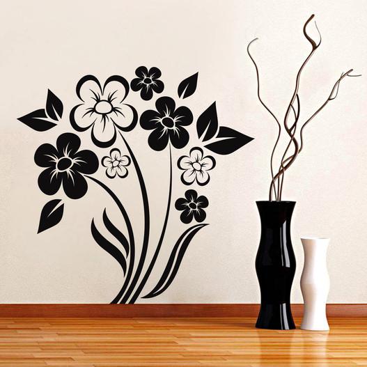 Blomster wallsticker