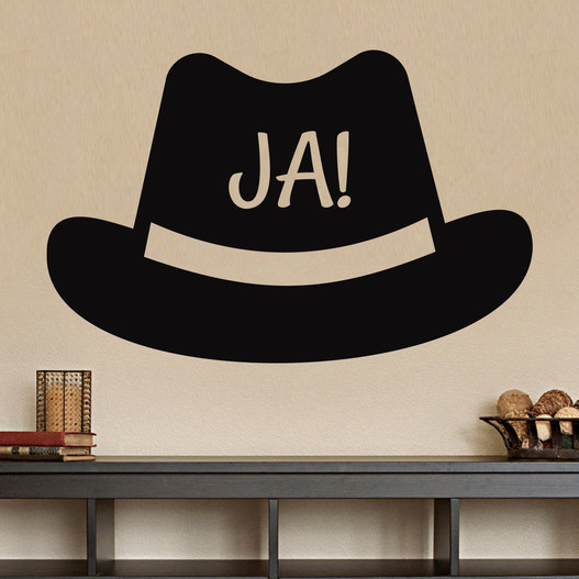 Ja hat wallsticker