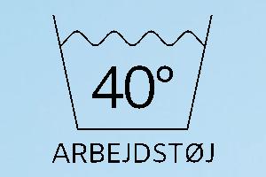 Vaskemærke 40 arbejdstøj