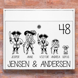 Postkasse stickers - Pirat wallsticker til postkasse