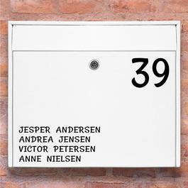 #2 Navneskilt wallsticker til postkasse