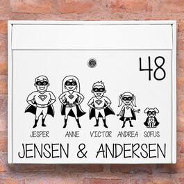 Postkasse stickers - Suerhelte wallsticker til postkasse