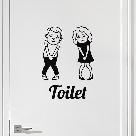 #6 Toiletskilt wallsticker