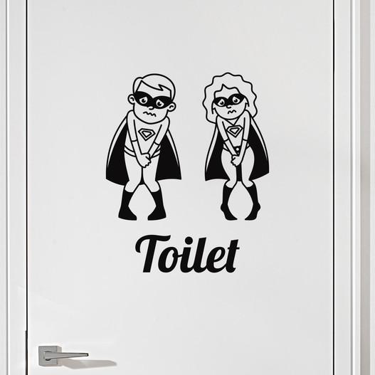 #7 Toiletskilt wallsticker