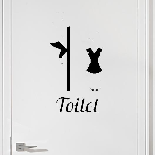 #8 Toiletskilt wallsticker