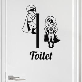 #9 Toiletskilt wallsticker