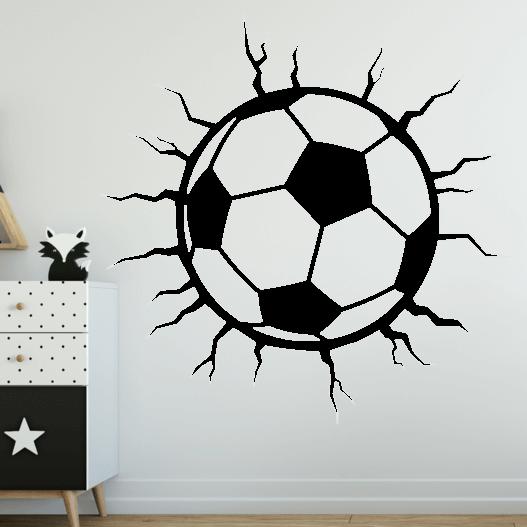 Fodbold med revner wallsticker