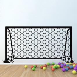 Fodboldmål med bolde wallsticker