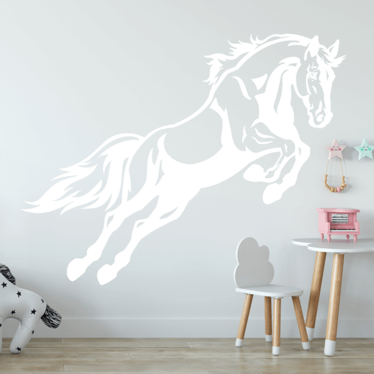 Hest i spring wallsticker, heste wallstickers