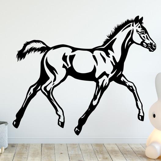 Føl wallsticker, heste wallstickers - smukt hest wallsticker