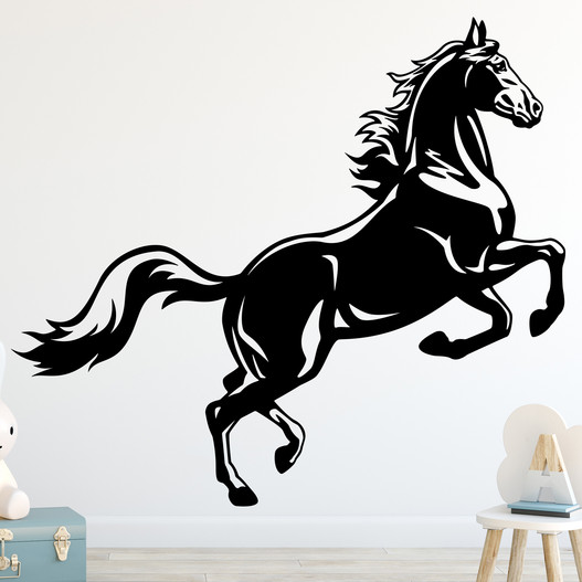 Hest der stejler wallsticker, heste wallstickers